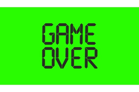 Game Over Animated - Green Screen Footage - YouTube