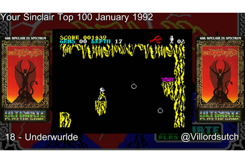 Your Sinclairs 100 Greatest Games - 18 Underwurlde # ...
