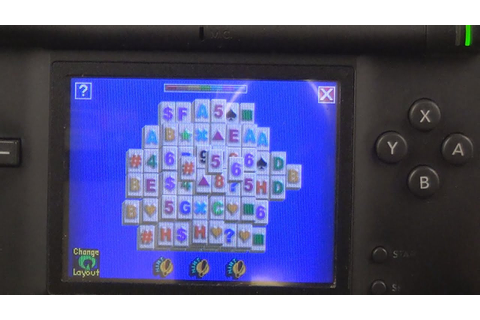 Playing TouchMaster Mahjong On Nintendo DS Game Mahjongg ...