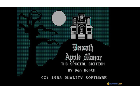 Beneath Apple Manor gameplay (PC Game, 1983) - YouTube
