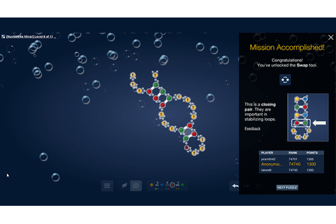 Play Eterna, a citizen science game related to RNA, for ...