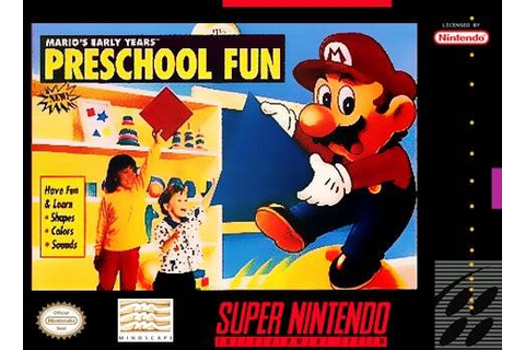 Mario's Early Years Preschool Fun SNES Super Nintendo