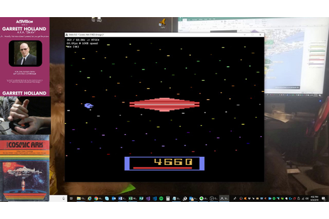 Cosmic Ark - Atari 2600 EMU - Game 1 B/B - 12,930 - YouTube