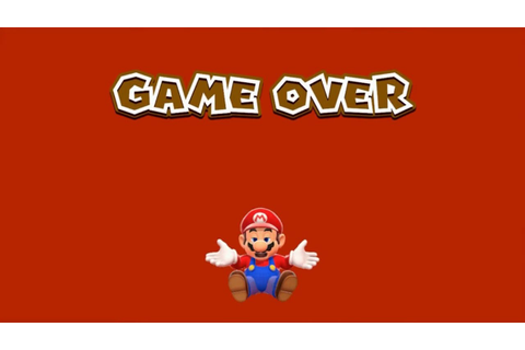 Super Mario 3D World- The Elusive Game Over Screen - YouTube