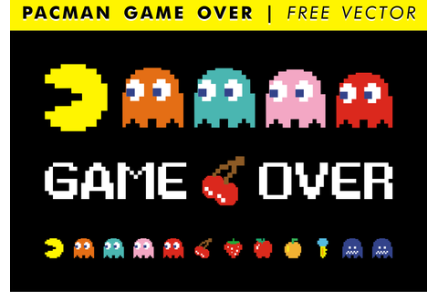 Pacman Game Over Free Vector - Download Free Vector Art ...