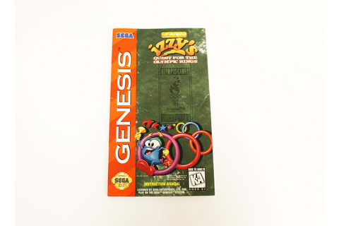 Manual - Izzy's Quest For The Olympic Rings - Sega Genesis