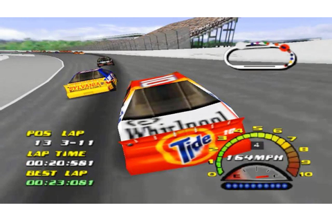 NASCAR 2000 (Nintendo 64 Gameplay) - YouTube