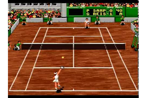 Pete Sampras Tennis (Mega Drive) - YouTube