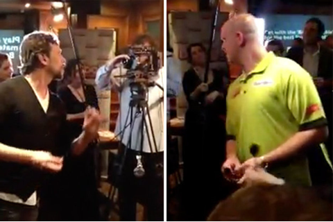 PDC World Darts Champion Michael van Gerwen taken on by ...