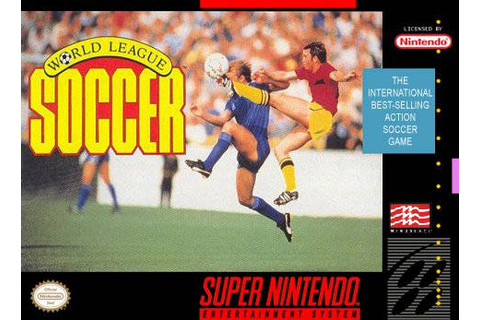 World League Soccer SNES Super Nintendo