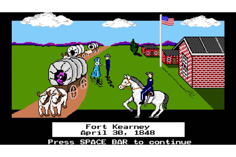 The Retro Review: Oregon Trail Gameplay Video - YouTube