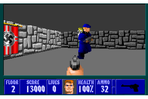 8-Bit City: Wolfenstein 3D Review, Resources, and DOS vs ...