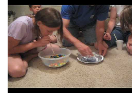 M&M Straw Game - YouTube