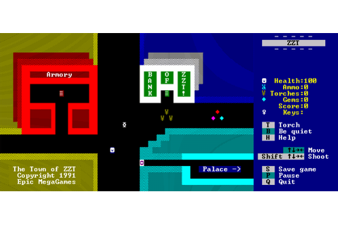 ZZT (1991) by Epic Megagames MS-DOS game