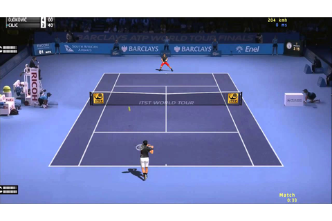 Novak Djokovic vs Marin Cilic Atp world Tour Finals 2014 ...