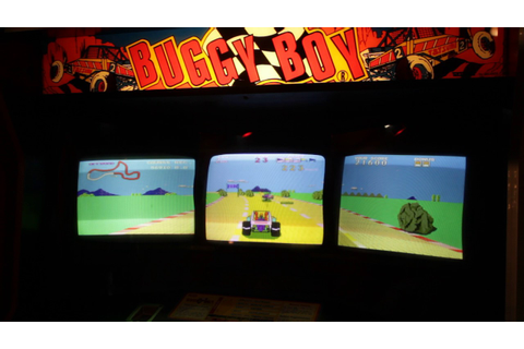 Real Buggy Boy *triple screen* arcade cabinet by Tatsumi ...
