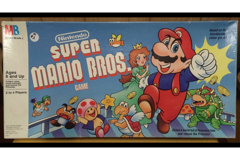 Nintendo Super Mario Bros Board Game by Milton Bradley ...