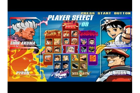Capcom Fighting Evolution Opening and All Characters [PS2 ...