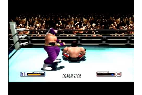 Virtual Pro Wrestling 2 Terry Funk vs Hayabusa - YouTube