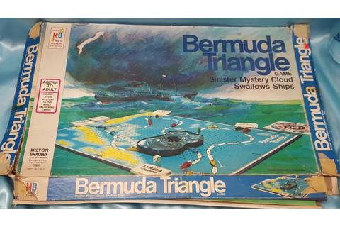 Vintage 1975 Bermuda Triangle Board Game