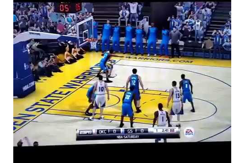 NBA Elite 11 PS3 Gameplay: Thunder vs Warriors - ONE GAME ...