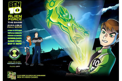 Ben 10 Series: Site do 'Ben 10: Alien Force The Game'
