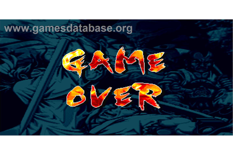 The Killing Blade - Arcade - Games Database