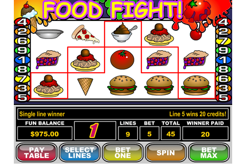 Food Fight slot: Play with $25 Free Bonus! | YummySpins
