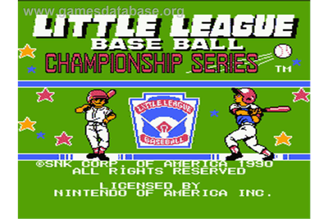 Little League Baseball Championship Series - Nintendo NES ...