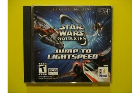 Star Wars Galaxies Jump To Lightspeed PC CD Rom Game ...