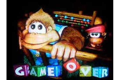 Donkey Kong Country 3 - Game Over Screen - YouTube