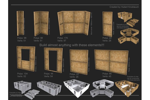 Modular low-poly game kit for building construction sites ...