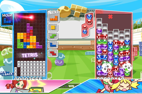 Puyo Puyo Tetris is a simple, cute hybrid of two puzzle ...
