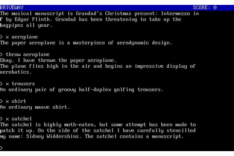 Humbug - text adventure game for MS-DOS
