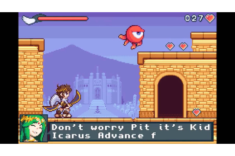 Kid Icarus: Uprising GBA fan game mock-up - YouTube