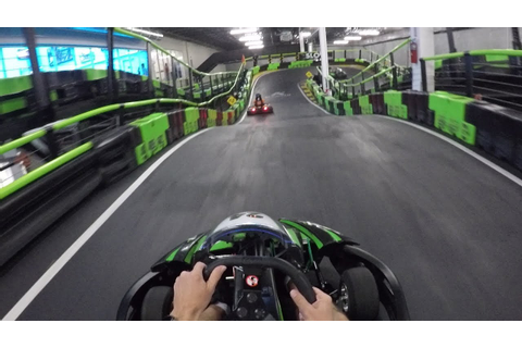 Racing Electric Go Karts At 35 MPH! | Andretti Indoor Kart ...