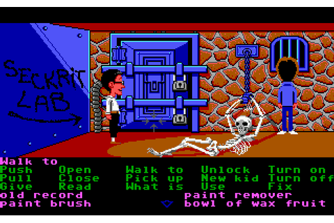Maniac Mansion (1987) - MS-DOS Games Online