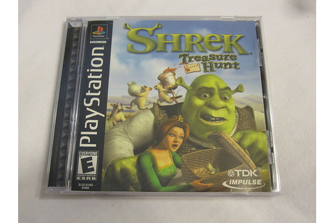 Shrek: Treasure Hunt (PlayStation PS1) Black Label Game ...