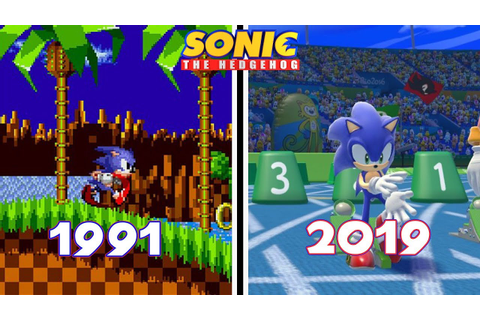 Sonic the Hedgehog Games Evolution (1991 - 2019) - YouTube