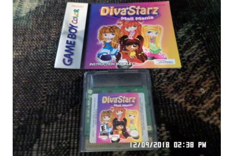 Diva Starz: Mall Mania (Nintendo Game Boy Color, 2000) for ...