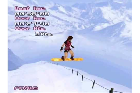 Trick'n Snowboarder (PS1) - Leon S. Kennedy and Claire ...