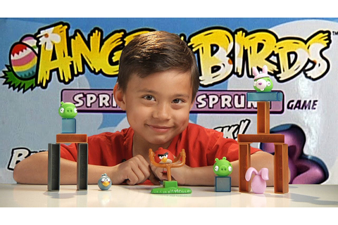 Angry Birds SPRING HAS SPRUNG Game!!! Destroy the BUNNY ...