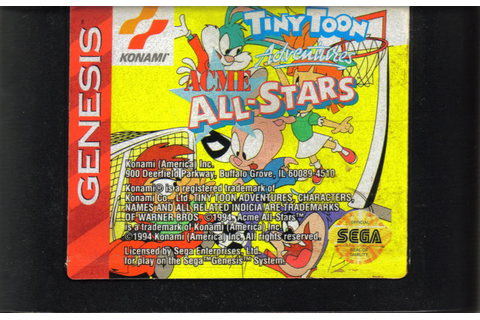 Tiny Toon Adventures: Acme All-Stars (1994) Genesis box ...