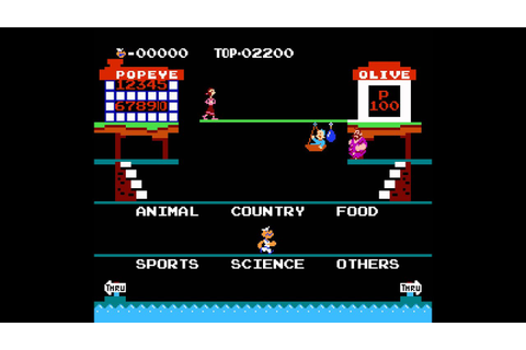 NES Game: Popeye No Eigo Asobi (1983 Nintendo) - YouTube
