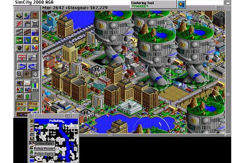 SimCity 2000 (1994) by Maxis Amiga AGA game