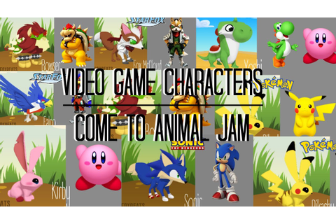 Video Game Characters Come to Animal Jam - YouTube