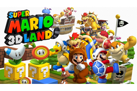 Super Mario 3d Land Characters FullHD Wallpaper | Jogos