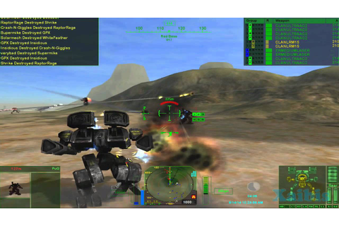 MechWarrior 4 Mercenaries with MekTek mod gameplay 02 ...