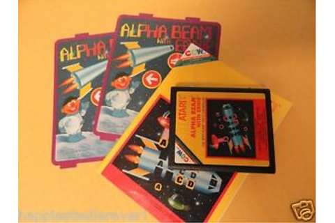 Atari 2600 Game Alpha Beam with Ernie Inlay Game Manual ...