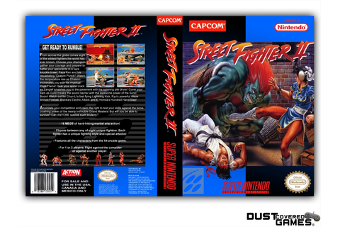 Street Fighter 2 SNES Super Nintendo Game Case Box Cover ...